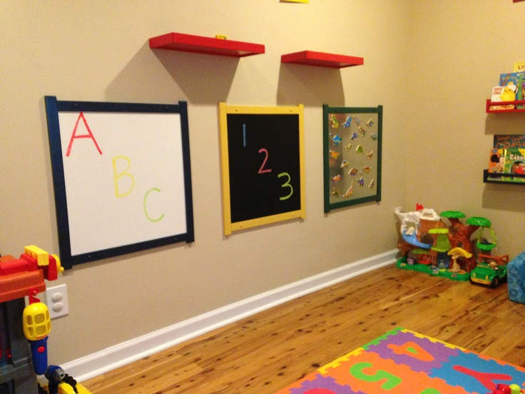 Pin by crystal simmons on pictures of our home playroom for Magnetic board for kids ikea