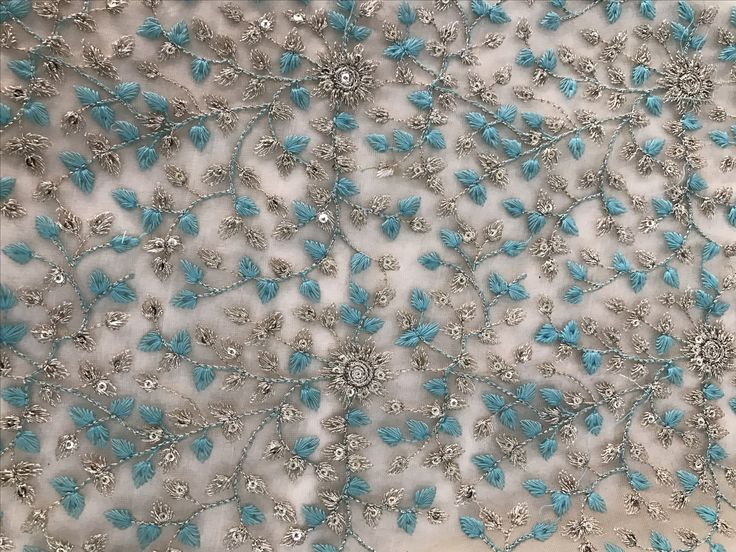 All over floral work tulle
