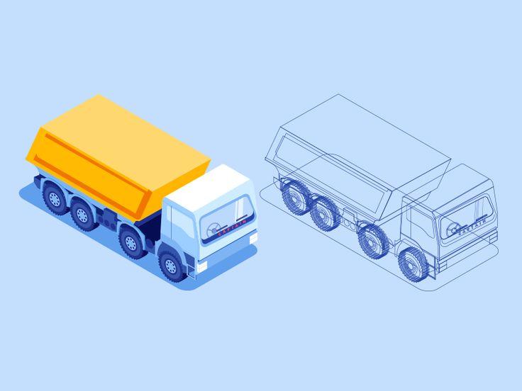 truck_isometric by ttya