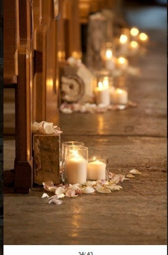 #churchdecorations #wedding #candlesinjar #flowerspetals