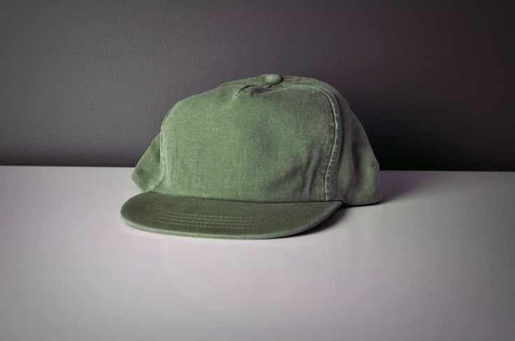 Green Washed Five Panel Cap
