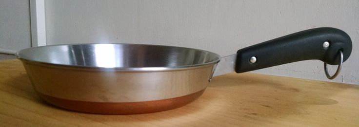Revere Ware Copper Clad Stainless Steel 8 Inch Fry Pan - Vintage - Mid Century - Clinton, Illinois by ClassyVintageGlass on Etsy