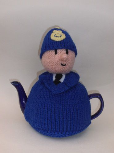 British Policeman Tea Cosy Knitting Pattern by:-TeaCosyFolk