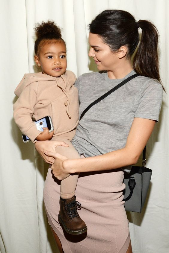 Kendall jenner North west fashion week
