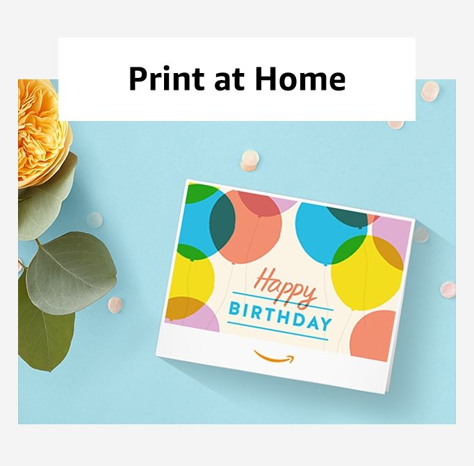 Print At Home Giftcards Amazon Business Card Design Inspiration Gift Card Design Menu Card Design