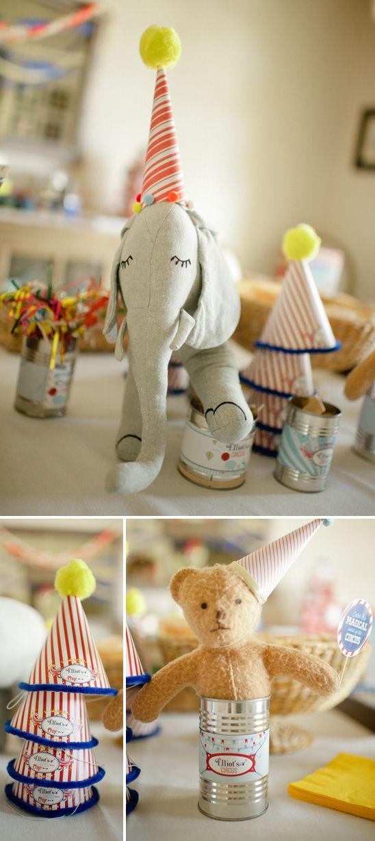 adorable - Elliot's Circus Themed Birthday Party - via on to baby