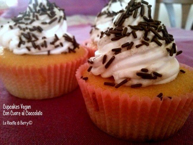 Cupcakes Vegani con Cuore di Cioccolato- Senza Burro e Uova