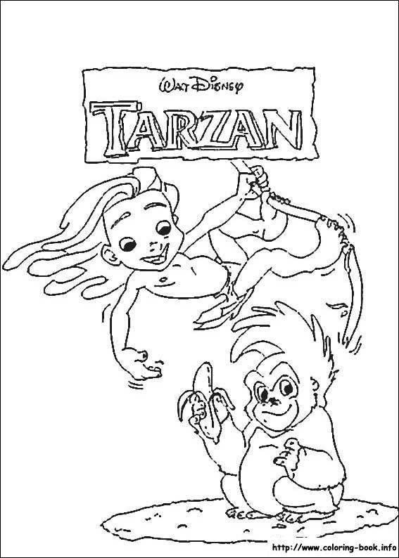 51 besten Coloring - Tarzan Bilder auf Pinterest   Malvorlagen ...