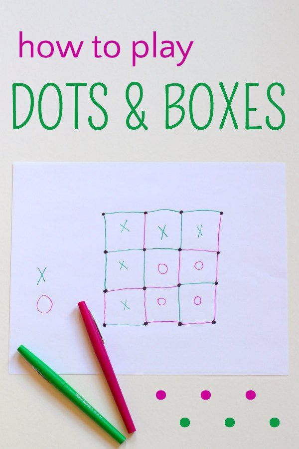 Dots and Boxes Game: an indoor game you can play instantly that helps children work on their fine motor skills