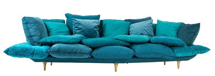 Canapé droit Comfy / L 300 cm Blanc - Seletti - Décoration et mobilier design avec Made in Design