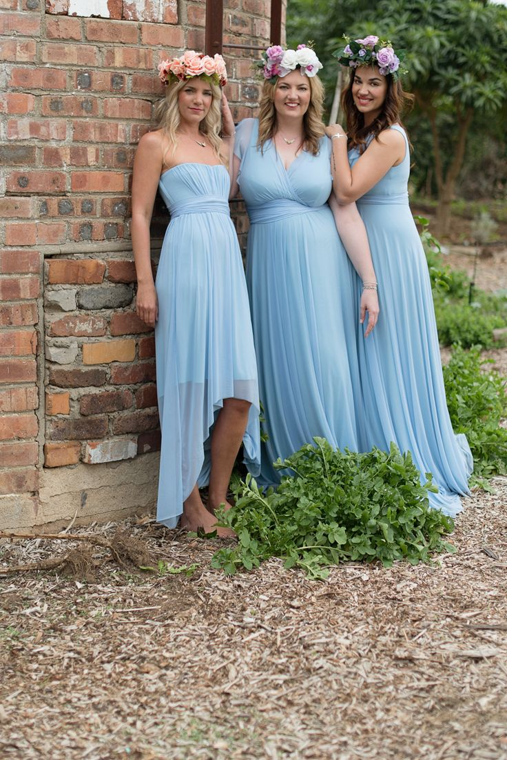 17 best images about bridesmaids on pinterest romantic for Hi lo hemline wedding dresses