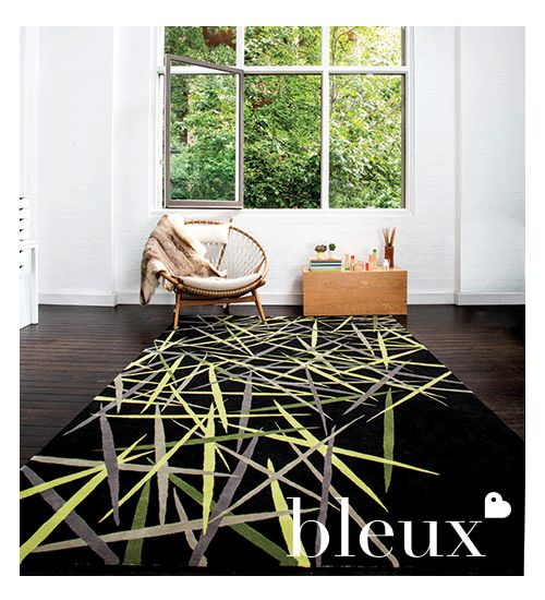 Bleux's Pick Up Sticks Rug from their 2014 'neighbourhood' Designer Rugs Collection.