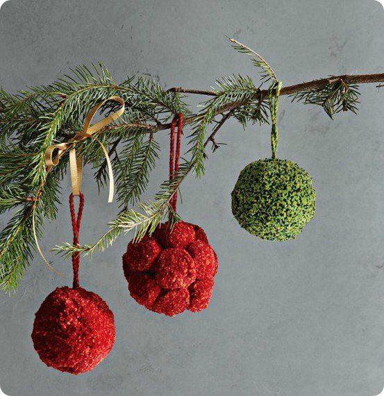 Новогодняя елка, снеговик, венок и другие новогодние украшения из помпонов. Мастер классы + видео