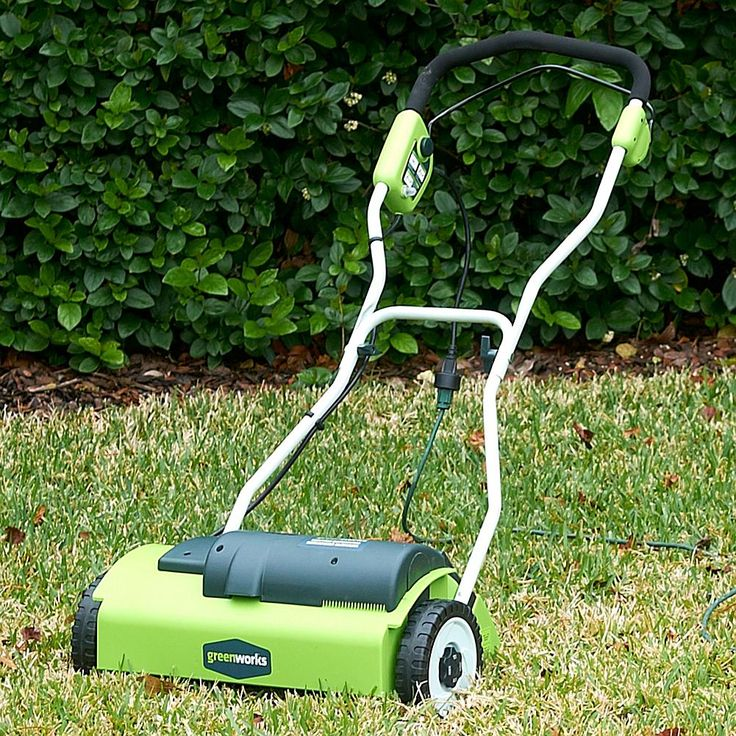 "GreenWorks 14"" 10-Amp Electric Lawn Dethatcher"