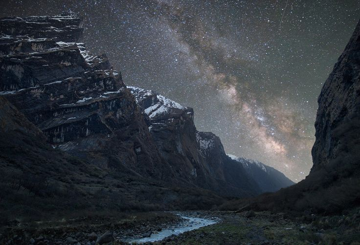 two favs- mountains and stars