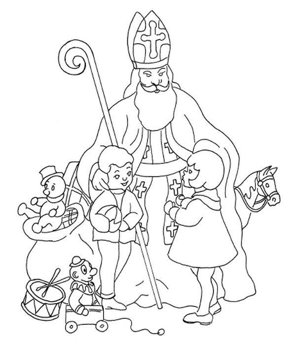 coloring page saint nicholas day  coloring pages  pinterest