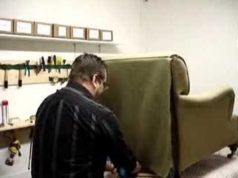 How to upholster outside back on a chair.  this site has numerous videos for DIY upholstery