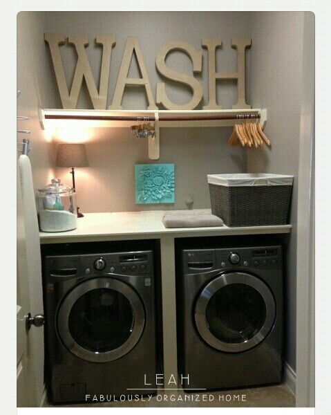 Cheap and easy way to decorate wash room.