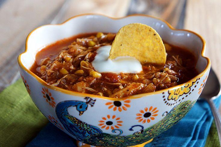 Chicken Enchilada Slow Cooker Soup