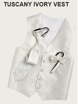 MOORES: Tuscany Ivory Vest