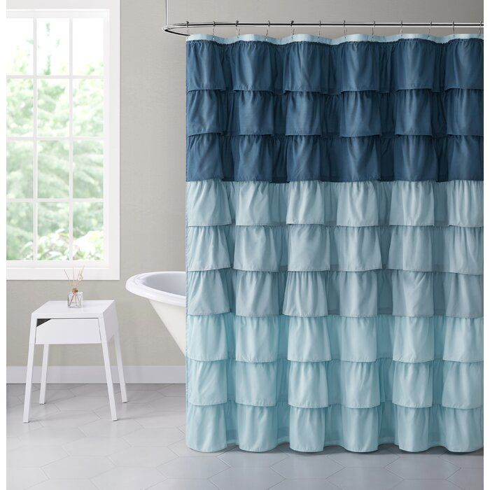 Sandiford Abstract Single Shower Curtain In 2020 With Images Ruffle Shower Curtains Fabric Shower Curtains