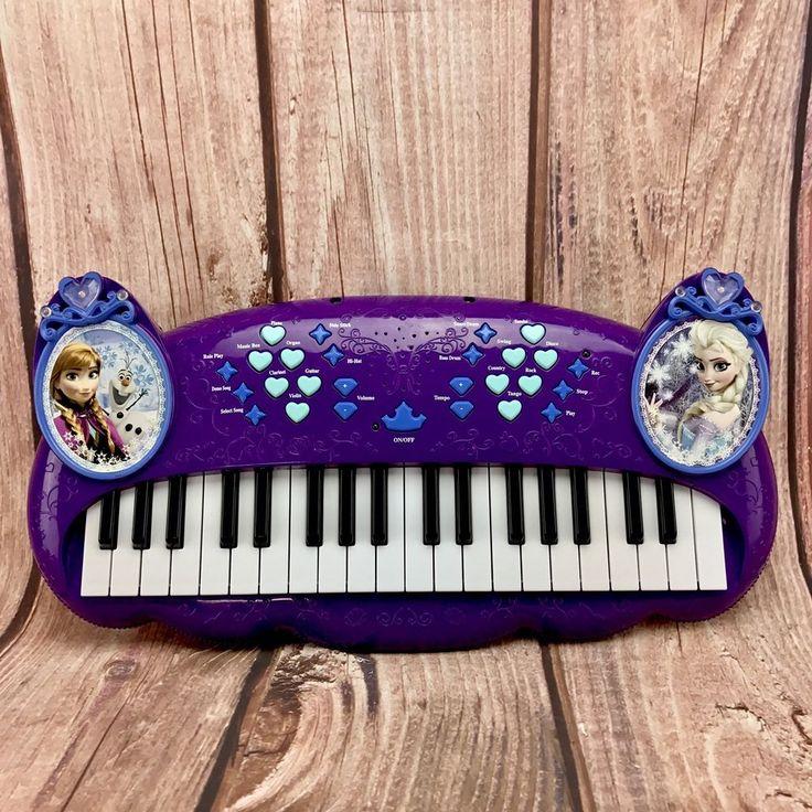 Disney's Frozen electronic Keyboard Piano Elsa Anna Olaf Kids Toys musical sound