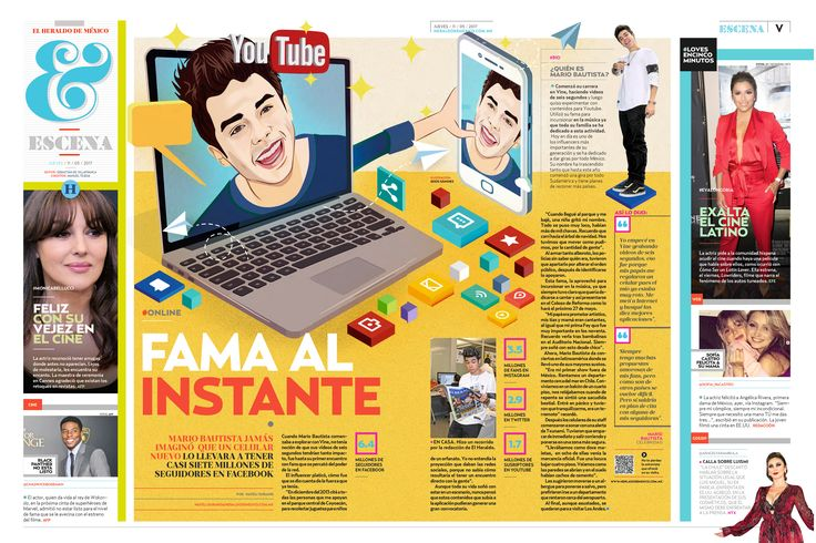 Illustrations for 'El Heraldo de México' on Behance