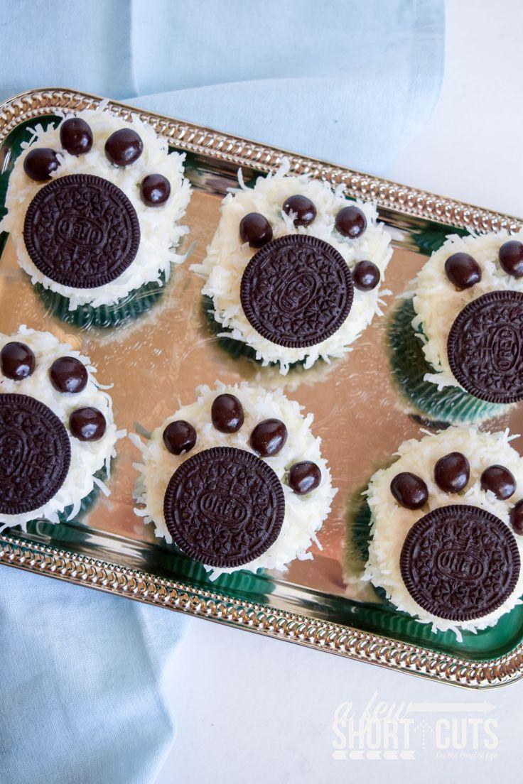 Celebrate #NormOfTheNorth with this fun Polar Bear Paw Cupcakes Recipe