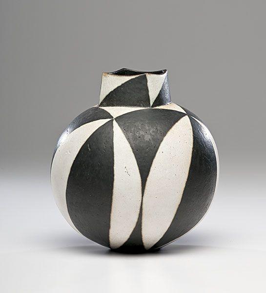 Masterworks: John Ward Black and White Vase