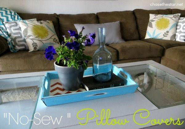 DIY & Crafts - Home Decor: How to Make Simple & Elegant No-Sew Pillow Covers!
