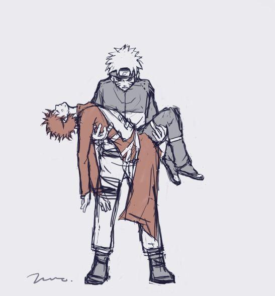 Gaara and Naruto - best friends.  When Naruto rescue Gaara too late.  Gaara's death.  *tears*  Thank you lady Chio of bringing Gaara back to life!!