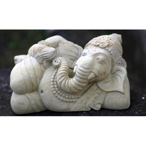 Ganesha And The Holy Lotus Sandstone Statue  Remover of Obstacles. Love This.: Sandston Statuett, Lotus Sandston, Statues Removal, Resins Statuari, Decor Statues, Holy Lotus, Sandston Statues, Statuari Figures, Ganesha