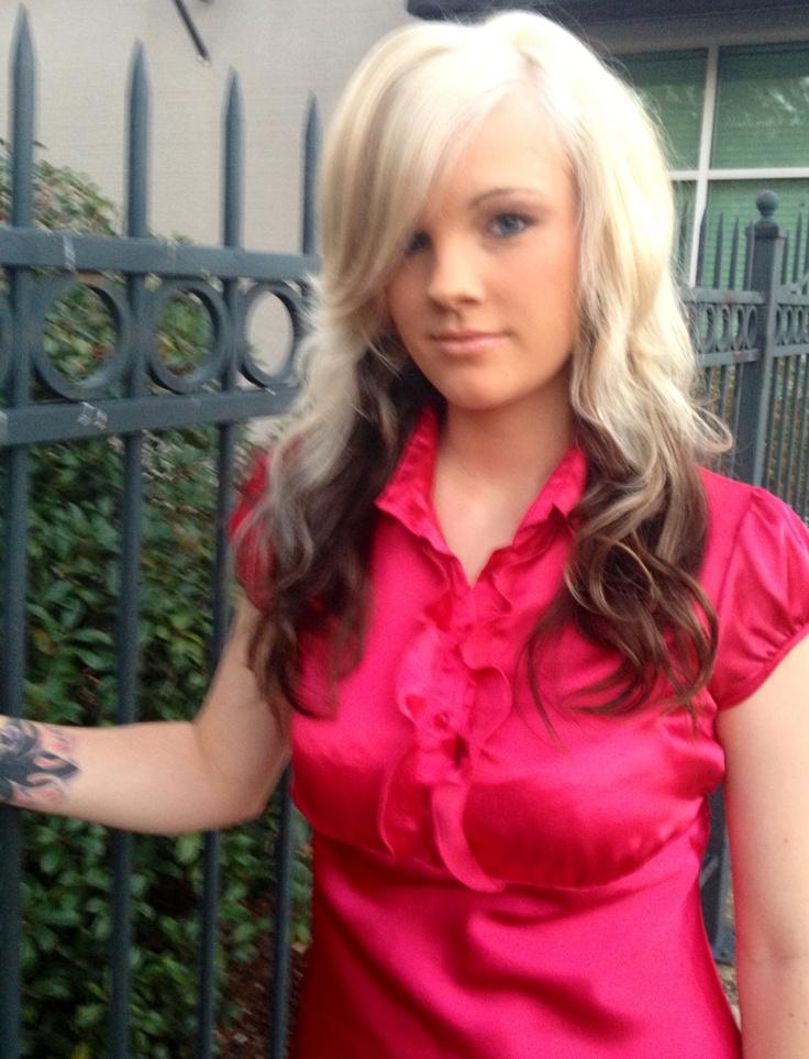 Platinum Top Dark Bottom Hair Platinum Blonde Top Dark