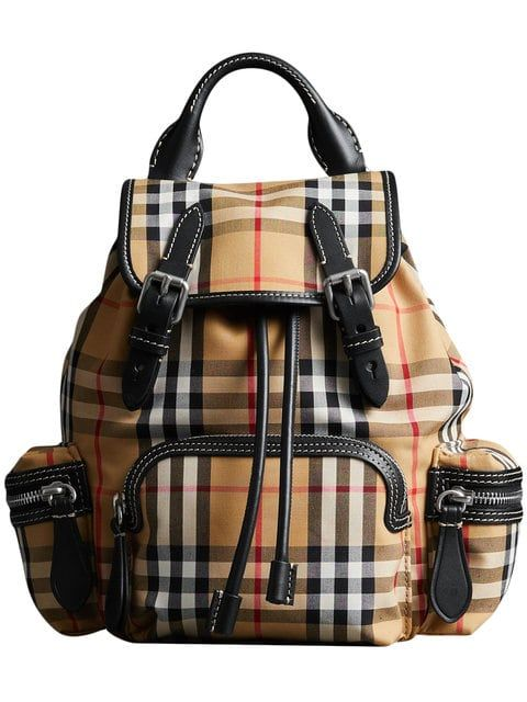 Burberry The Small Rucksack in Vintage Check and Leather c7440e168f6c2