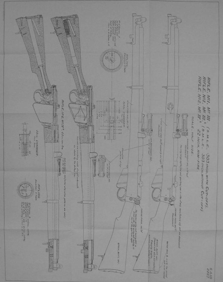 Lee-Enfield Mk.III and No.2 Mk.IV* Rifle Drawings