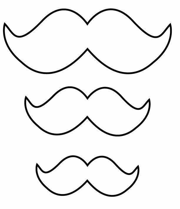 Molde De Bigode Mustache Template Birthday Party Decorations
