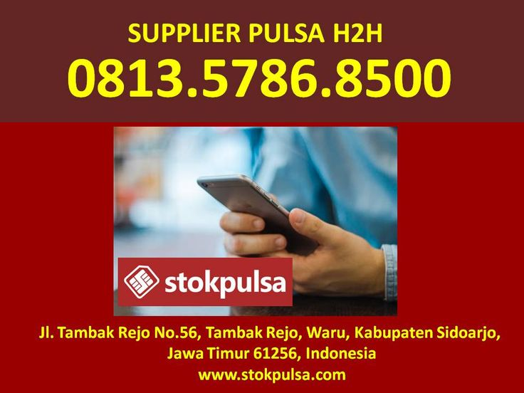 Distributor Pulsa H2h All Operator Murah Nasional