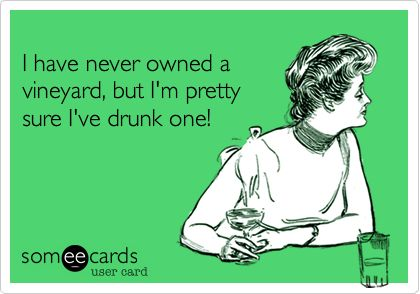 I have never owned a vineyard, but I'm pretty sure I've drunk one!
