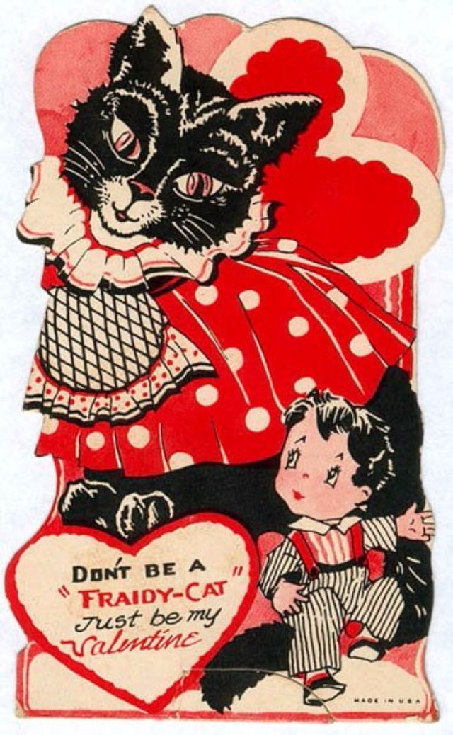 Pussy Galore: A Collection Of 28 Cute And Funny Vintage Kitty Cat Valentineu0027s  Day Cards