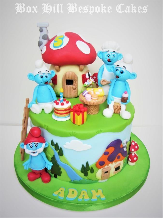 Smurf Cake by Noreen Box Hill Bespoke