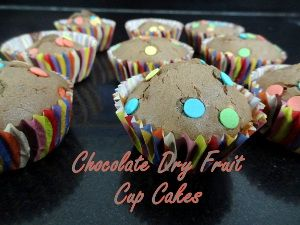 Chocolate Dry Fruit Cup Cake-Eggless