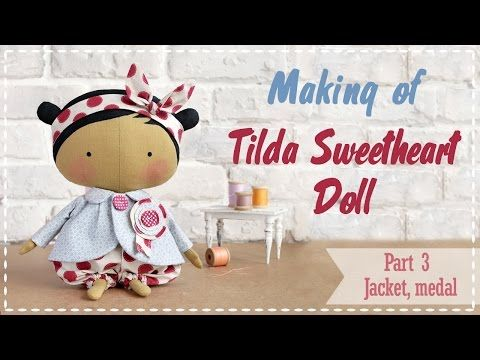Tilda Sweetheart Doll tutorial Part 2 - How to make doll's trousers and headband - YouTube