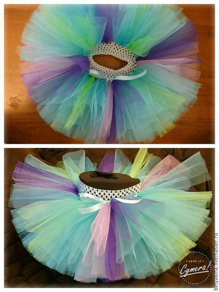 """Купить Юбочка туту """"Кокетка"""" - голубой, туту юбка, юбка-пачка, для девочки, для новорожденного, годовасие"""