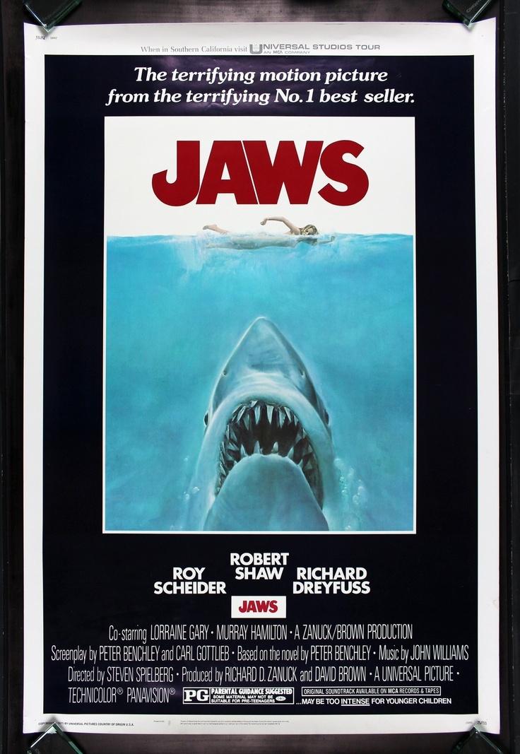 Jaws CineMasterpieces Huge 40x60 Original Shark Movie Poster 1975 Spielberg   eBay