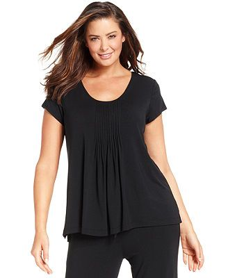 DKNY Plus Size Seven Easy Pieces Short Sleeve Top