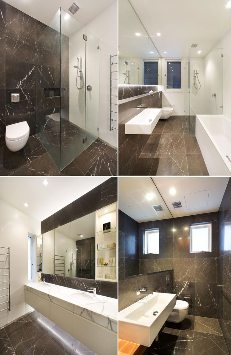 Pietra Grey 610 x 610 x 15 Honed + Bevelled Tiles applied to floor and walls, feature in Powder Room, Ensuite and Bathroom. Calacatta Marble benchtop slab in Ensuite. White Snow Matt Rectified 600 x 300 x 10 Ceramic Tiles applied to walls, featured in Ensuite and Bathroom.Natural stone supplied by Sareen Stone www.sareenstone.com.au. Restoration by Dobsonei Construction www.dobsonei.com