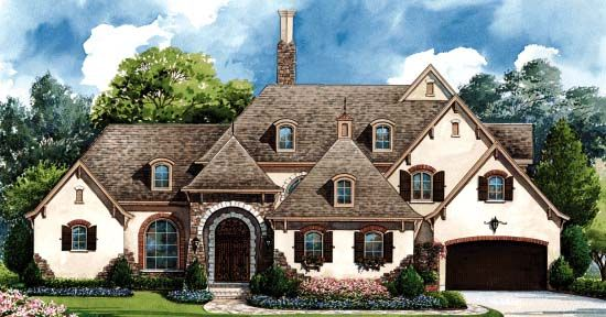 Good floor plan. Elevation of Southern   House Plan 68359