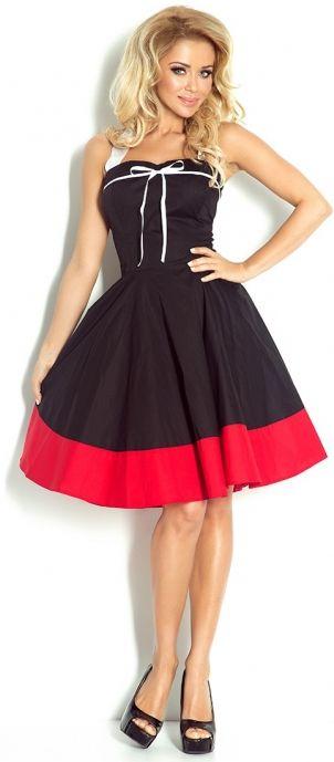 119,90zł Rozkloszowana Czarna Sukienka Rockabilly Pin Up. Idealna na imprezy, karnawał czy wiosenno-letnie codziennie spacery.