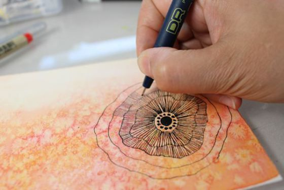 #techniques to try with watercolor - Sandrine Pelissier