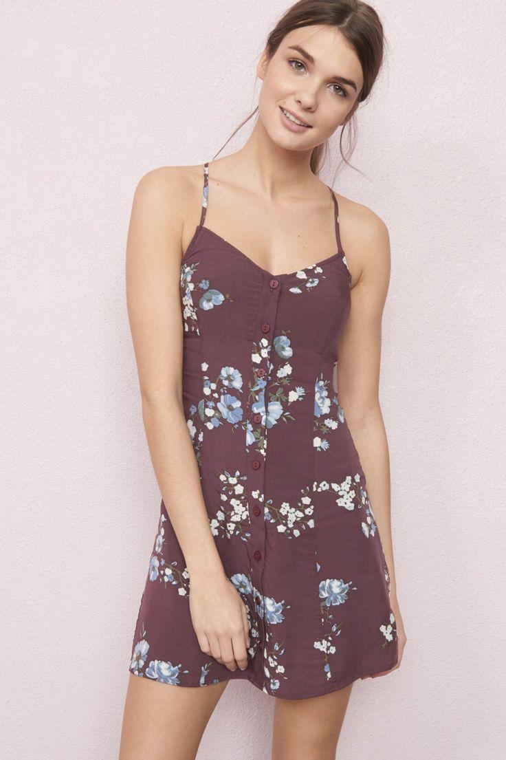 Buttoned-Up Flirty Dress